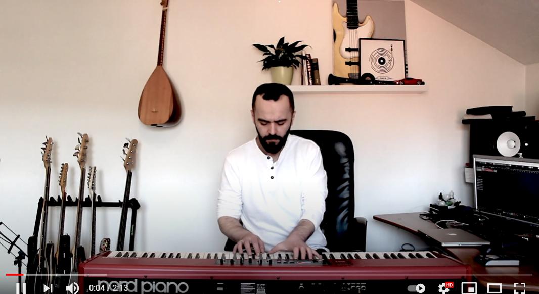 """Piano cover """"Kradem ti se"""" sevdalinka u izvedbi Kenana Imamovića"""