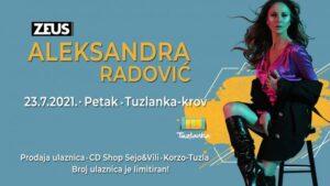 "Akustični koncert Aleksandre Radović 23. jula na krovu ""Tuzlanke"""